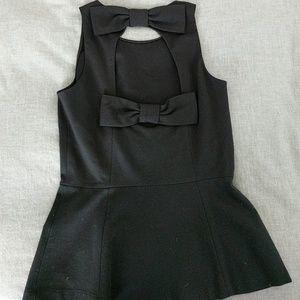 Kate Spade Ponte black bow top